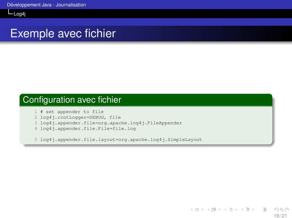 apache.log4j.fileappender 4 log4j.appender.file.file=file.