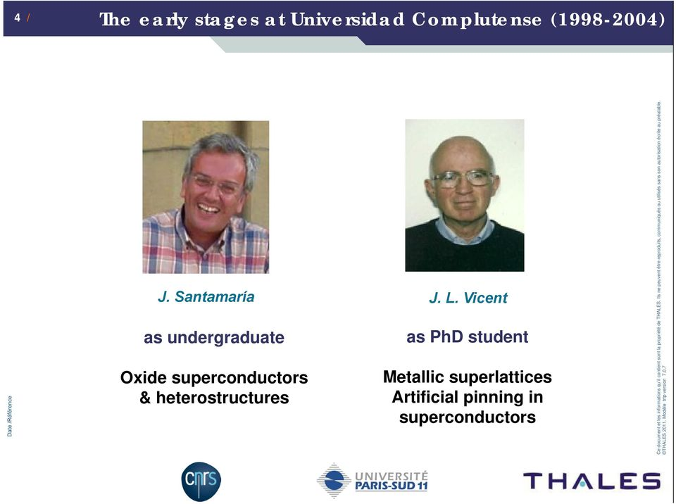 Vicent as undergraduate Oxide superconductors &