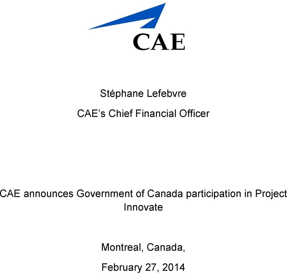 Government of Canada participation in
