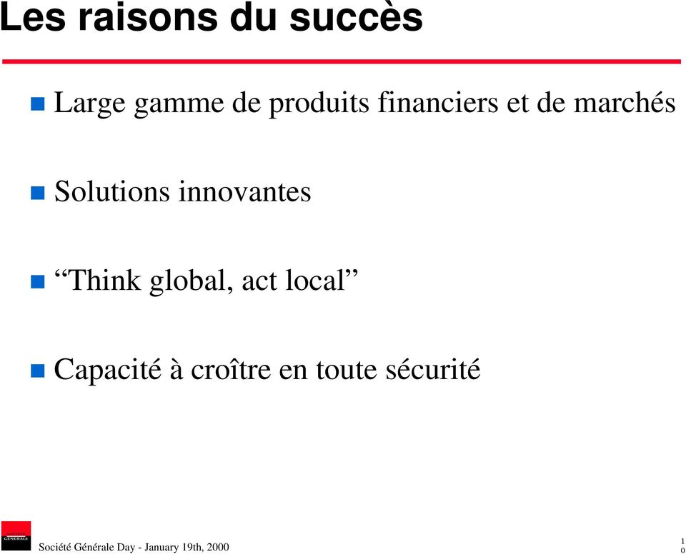 Solutions innovantes Think global, act