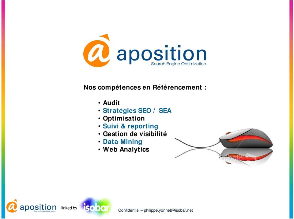 Optimisation Suivi & reporting