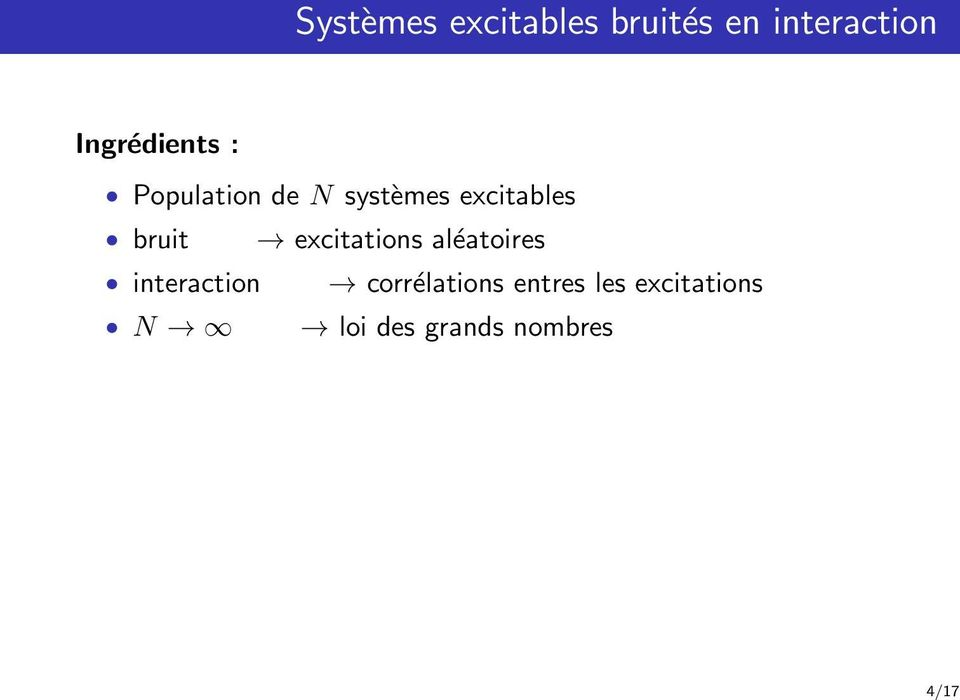 bruit excitations aléatoires interaction