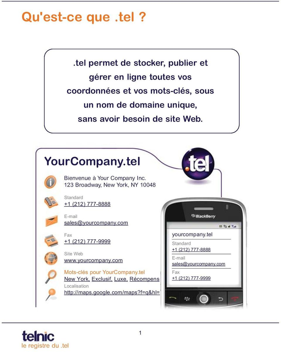 de site Web. YourCompany.tel Bienvenue à Your Company Inc.