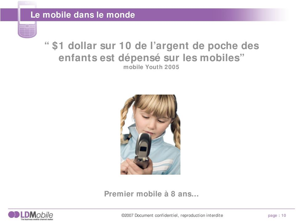 mobiles mobile Youth 2005 Premier mobile à 8 ans