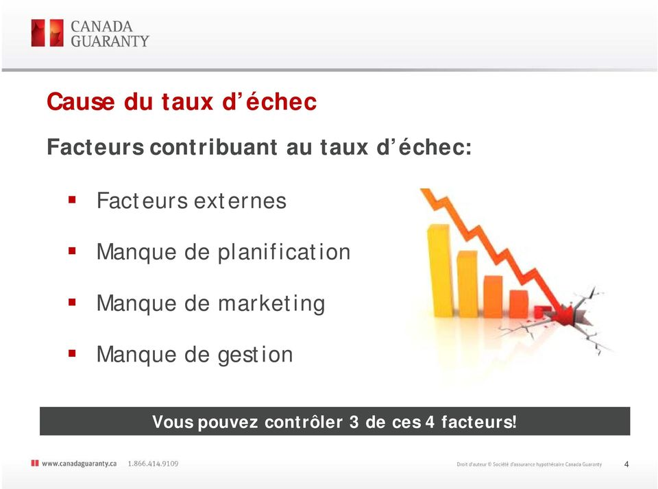 de marketing Manque de gestion Source: Entrepreneur.