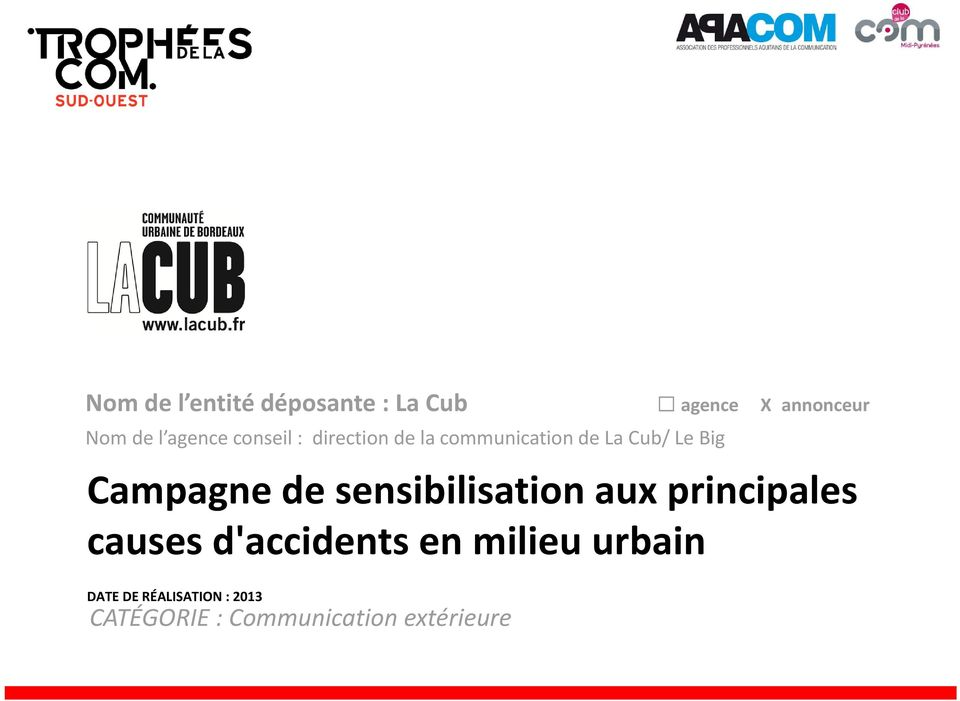 Campagne de sensibilisation aux principales causes d'accidents en
