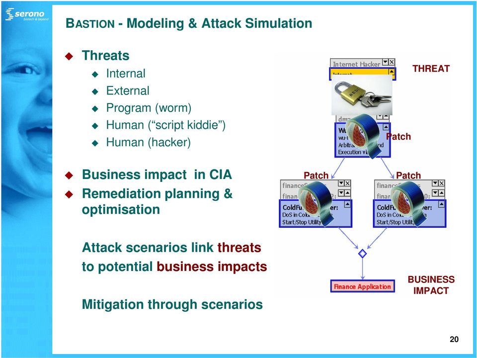 CIA Remediation planning & optimisation Patch Patch Attack scenarios link