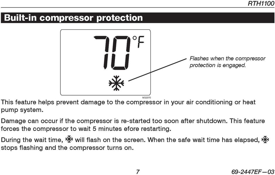 Damage can occur if the compressor is re-started too soon after shutdown.