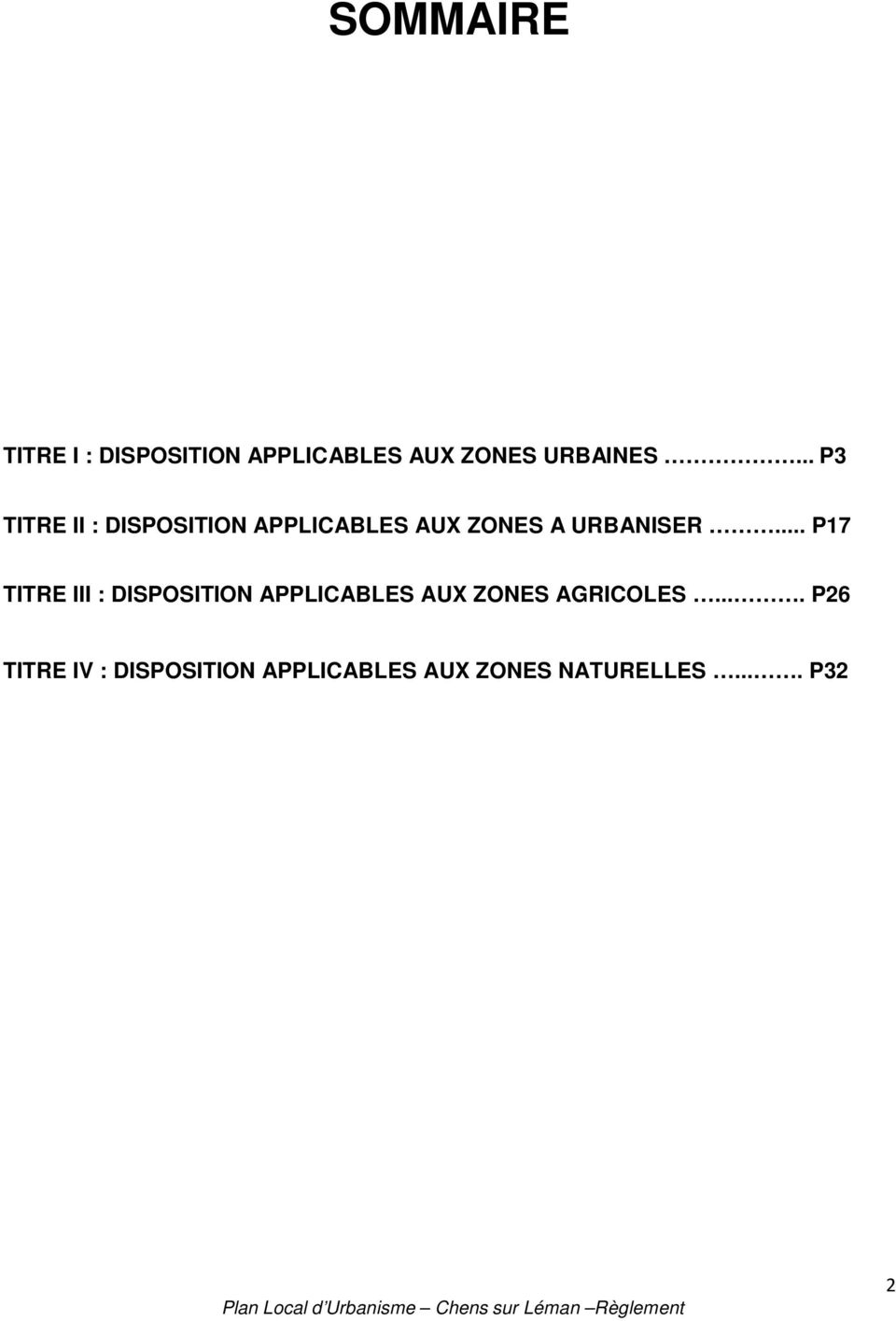 .. P17 TITRE III : DISPOSITION APPLICABLES AUX ZONES AGRICOLES.
