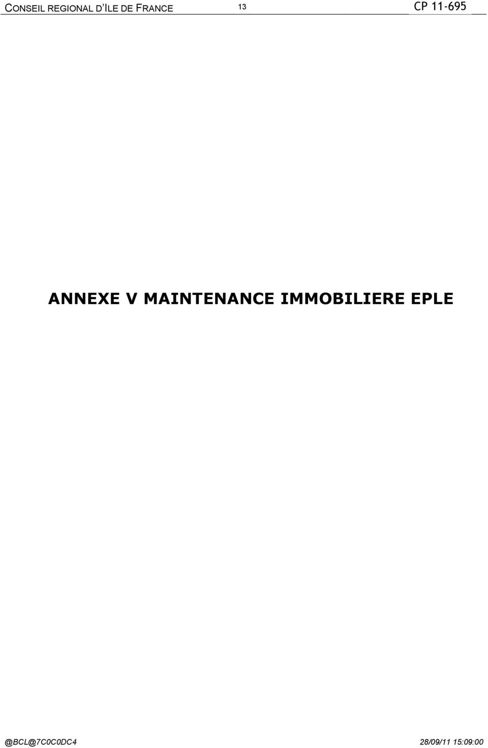MAINTENANCE IMMOBILIERE EPLE