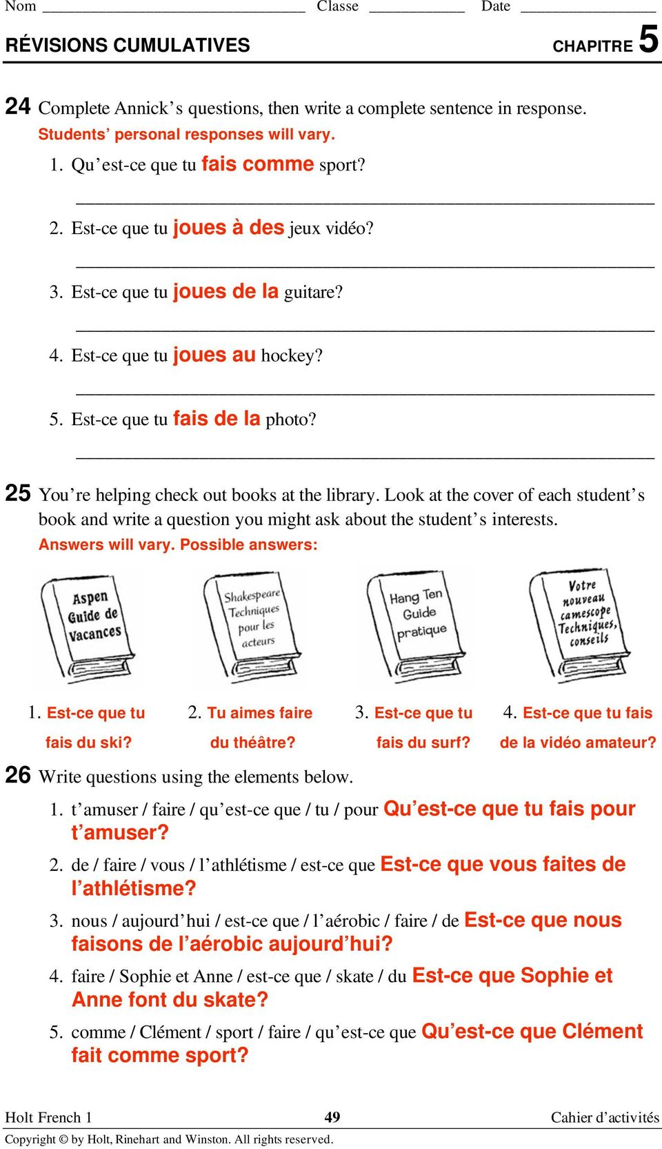 Berk demarzo corporate finance solutions manual ebook coupon codes workbooks holt french 2 bien dit workbook answers free printable workbooks holt french 2 bien dit fandeluxe Images
