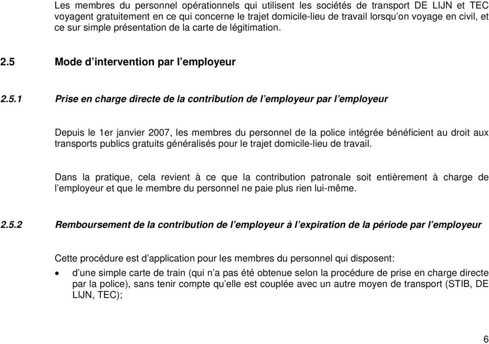 Mode d intervention par l employeur 2.5.