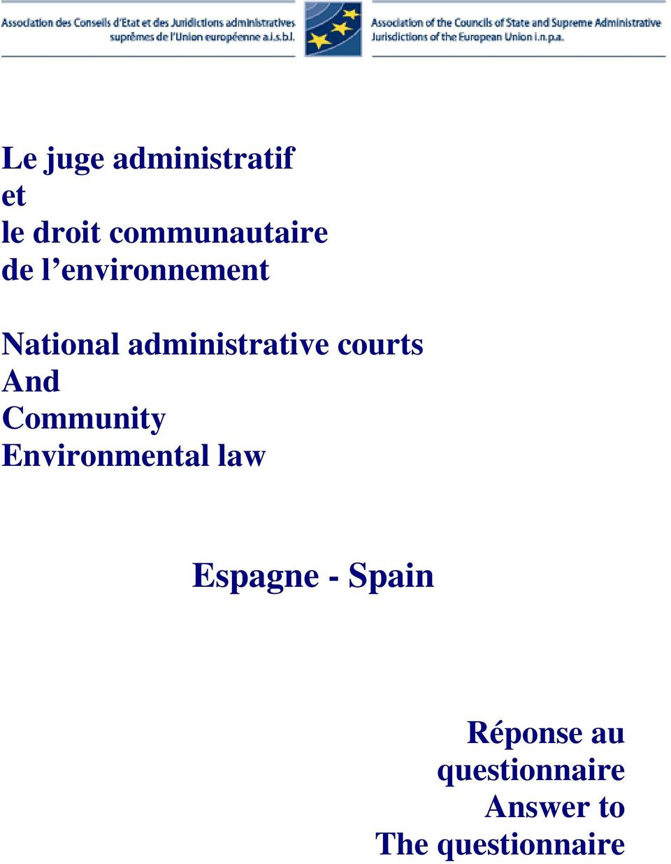 And Community Environmental law Espagne - Spain