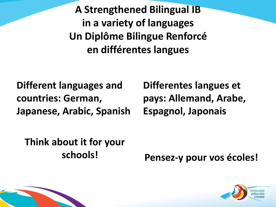 Japanese, Arabic, Spanish Differentes langues et pays: Allemand, Arabe,