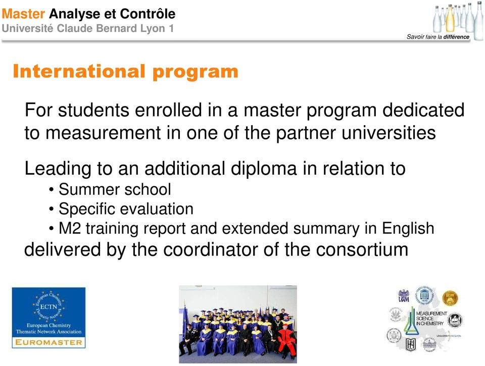 diploma in relation to Summer school Specific evaluation M2 training report