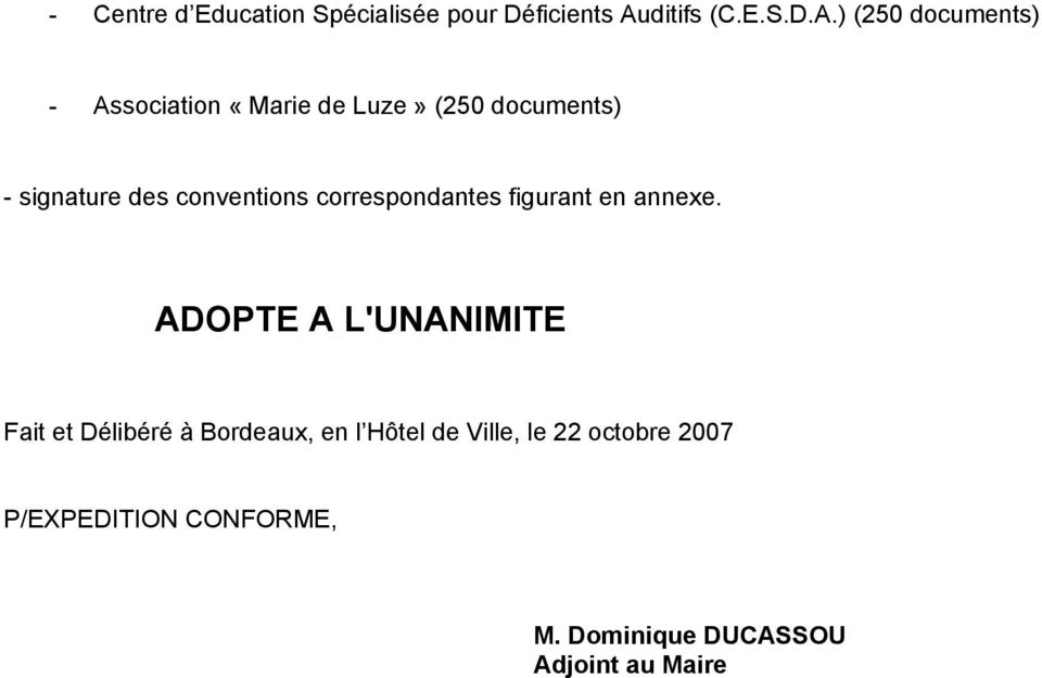 ) (250 documents) - Association «Marie de Luze» (250 documents) - signature des