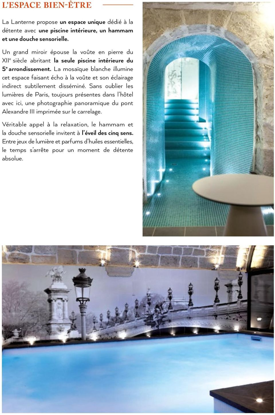 Le rendez vous chic paris pdf for Piscine miroir debit