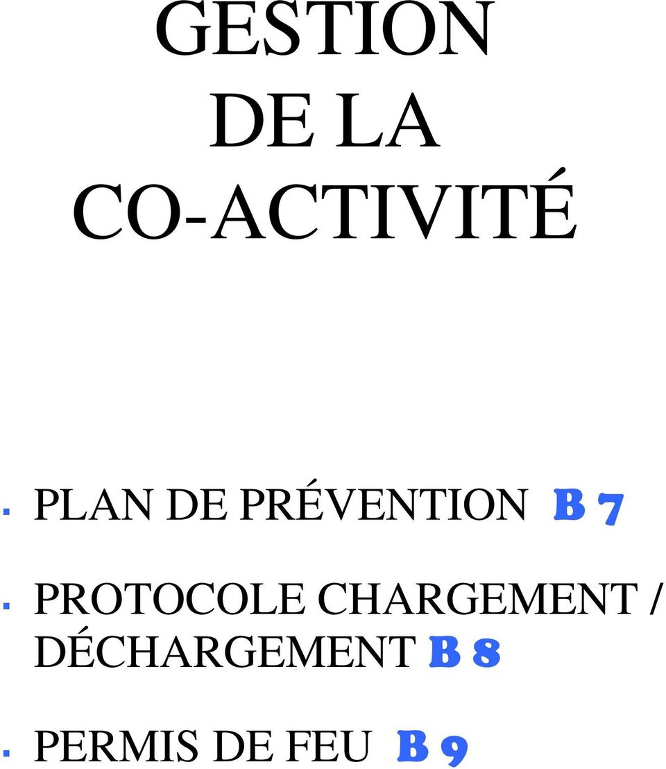 PROTOCOLE CHARGEMENT /