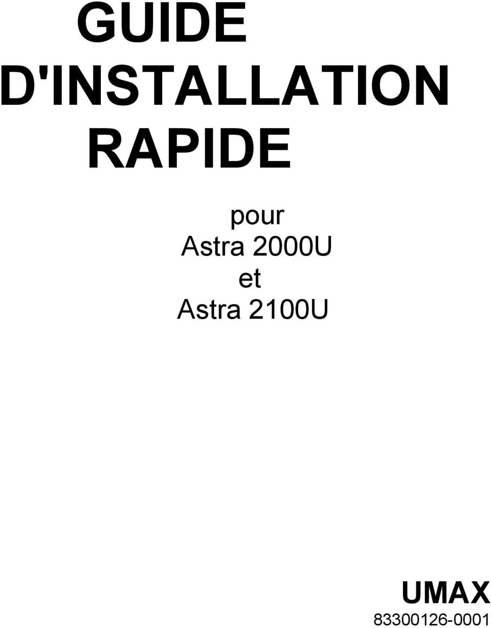 RAPIDE pour Astra