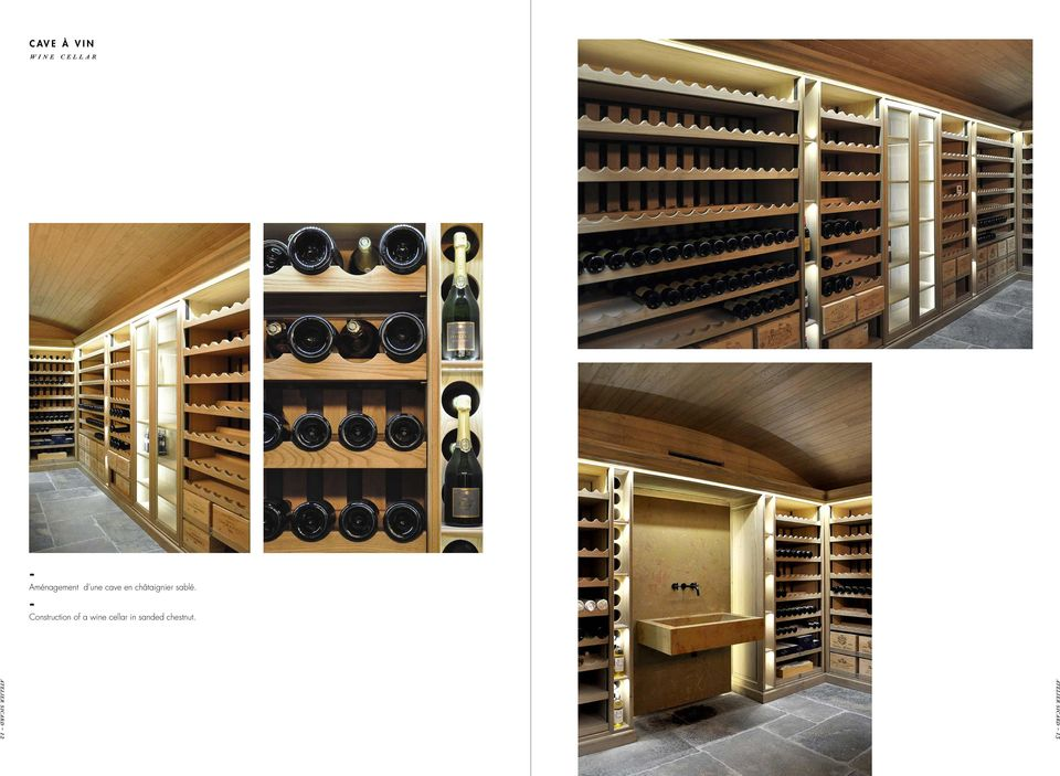 Construction of a wine cellar in