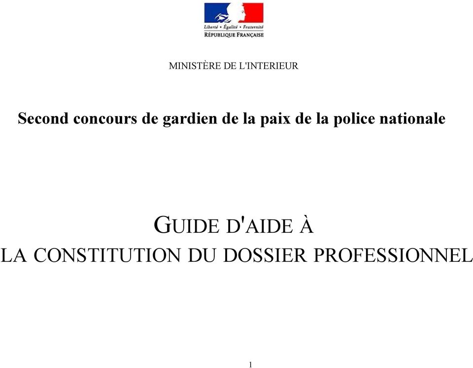 la police nationale GUIDE D'AIDE À
