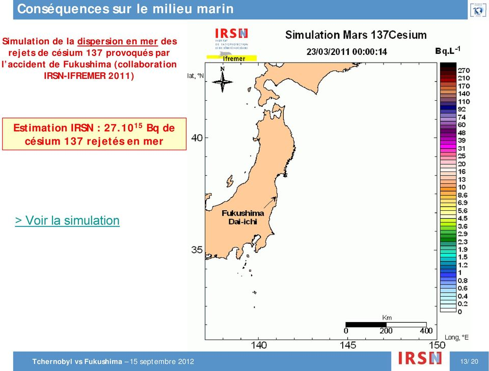 (collaboration IRSN-IFREMER 2011) Estimation IRSN : 27.
