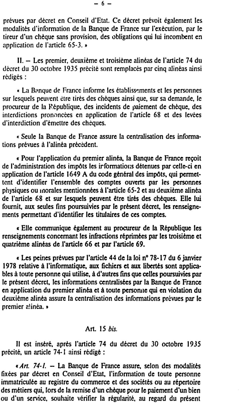 article 65-3.» II.
