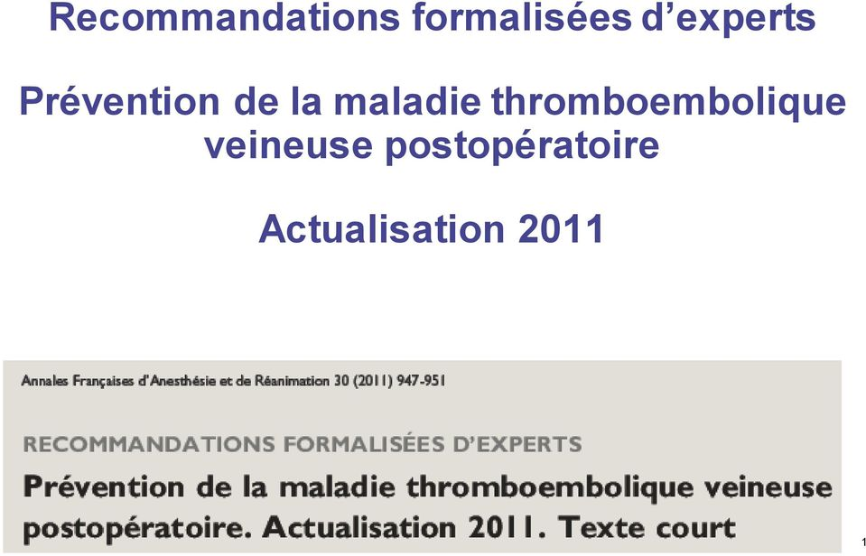 thromboembolique veineuse