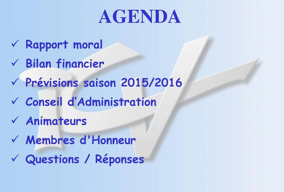 2015/2016 Conseil d Administration