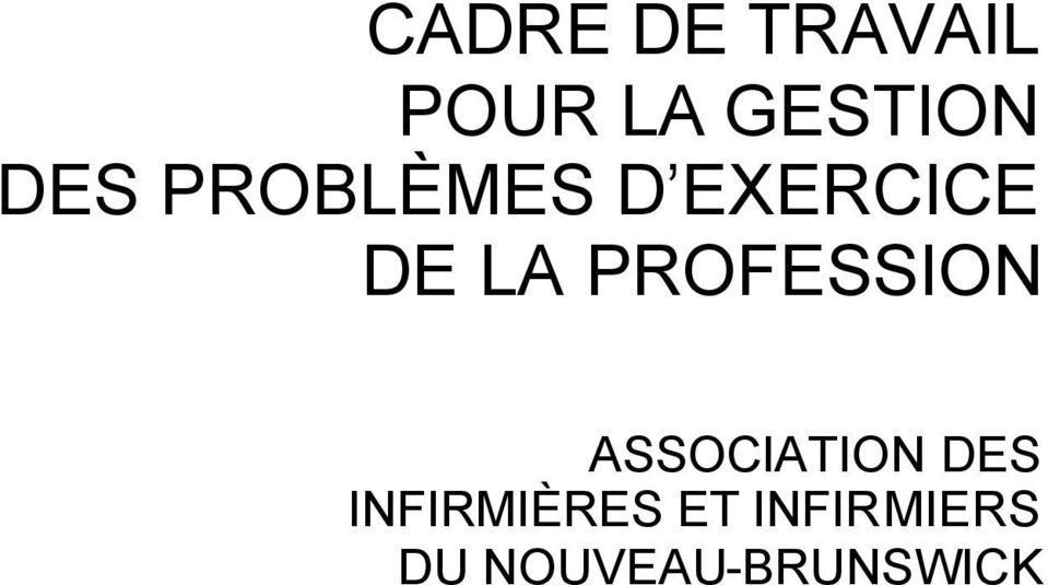 PROFESSION ASSOCIATION DES