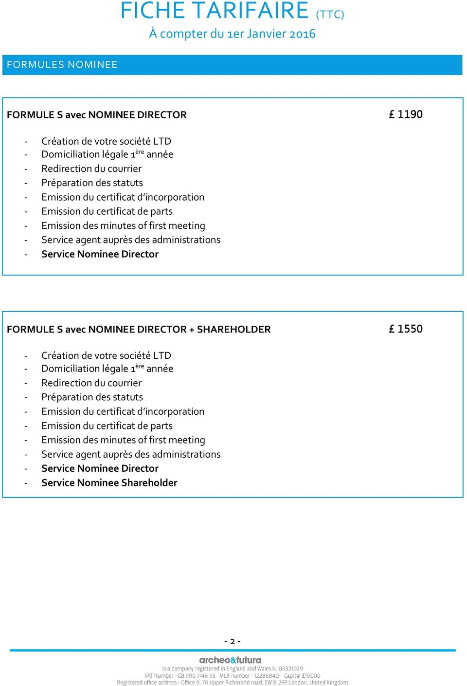 NOMINEE DIRECTOR + SHAREHOLDER 1550 - Service