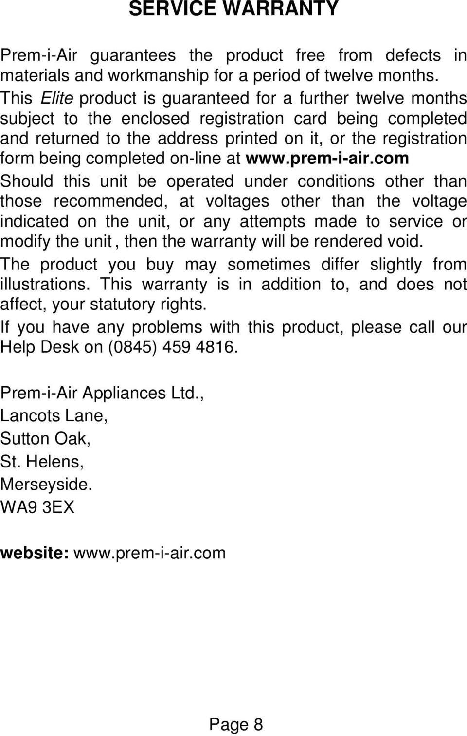 completed on-line at www.prem-i-air.