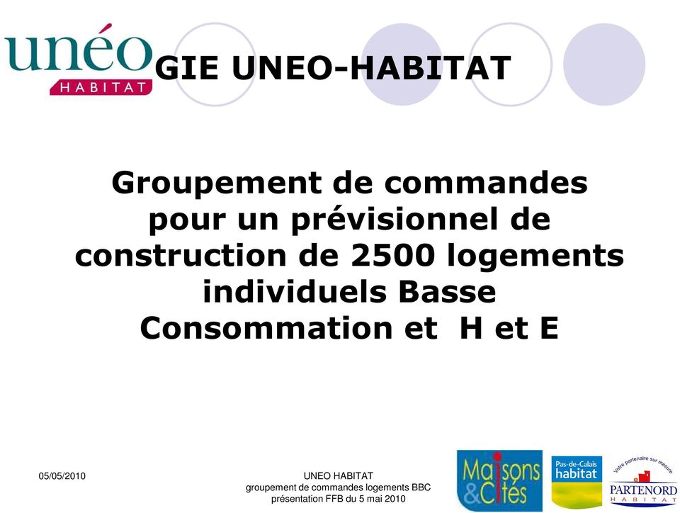 construction de 2500 logements