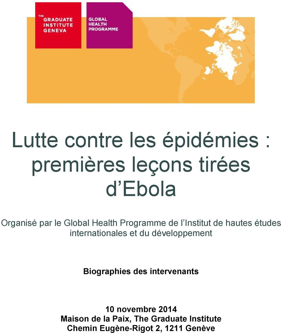 internationales et du développement Biographies des intervenants 10