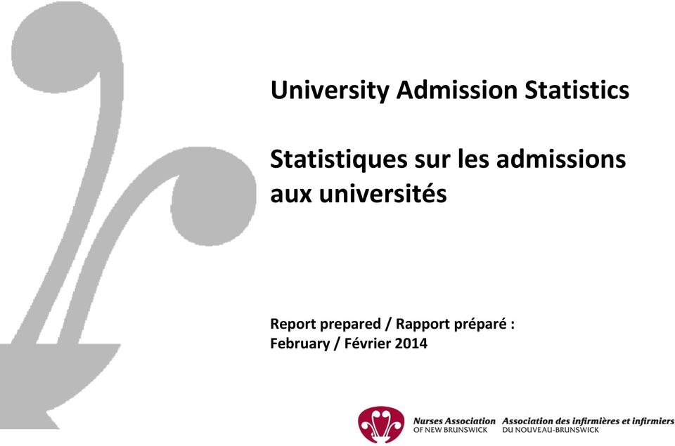 aux universités Report prepared /