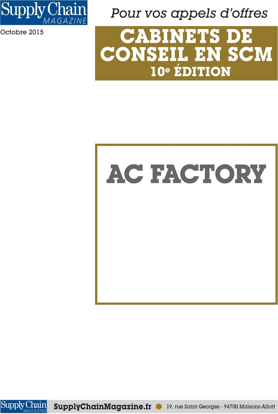 ÉDITION AC FACTORY SupplyChainMagazine.