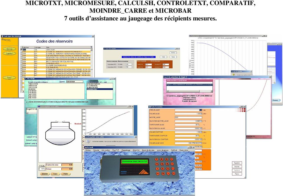 MOINDRE_CARRE et MICROBAR 7 outils