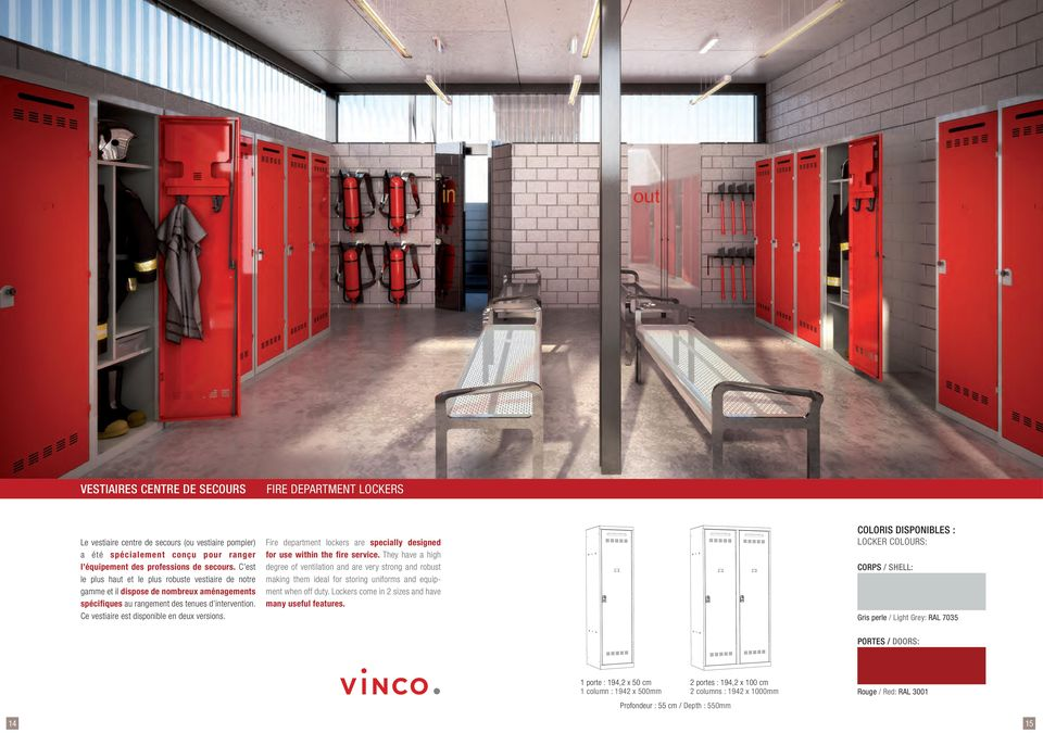 Fire department lockers are specially designed for use within the fire service.