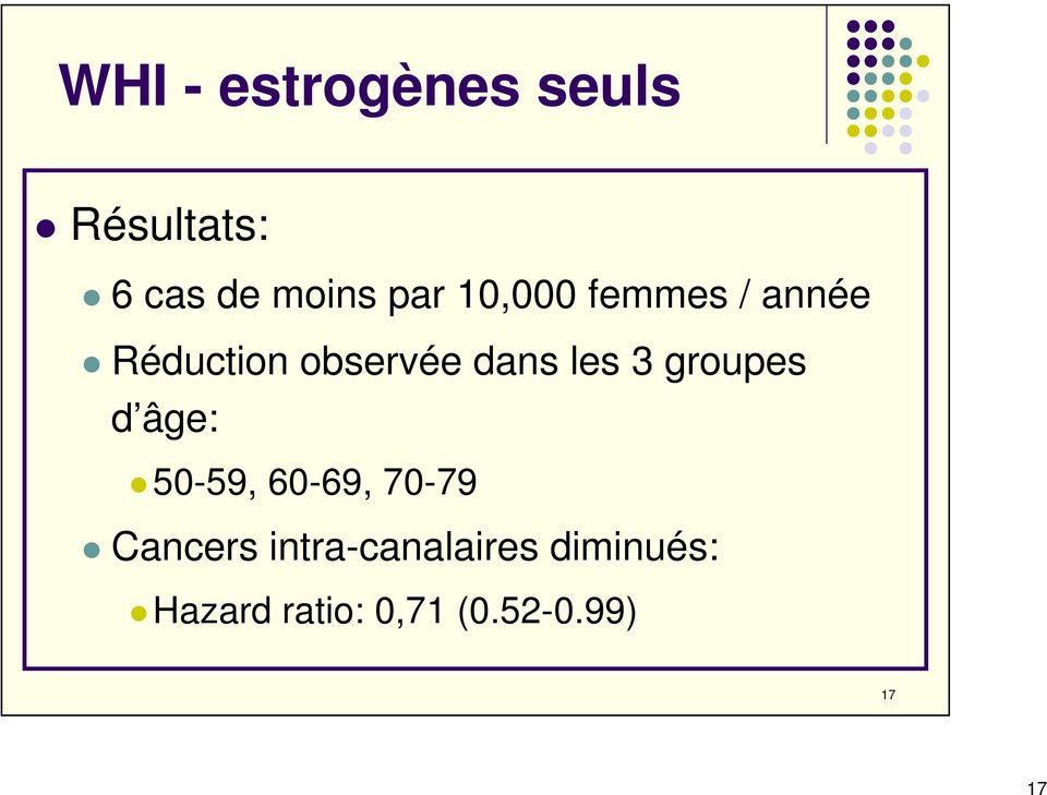 groupes d âge: 50-59, 60-69, 70-79 Cancers
