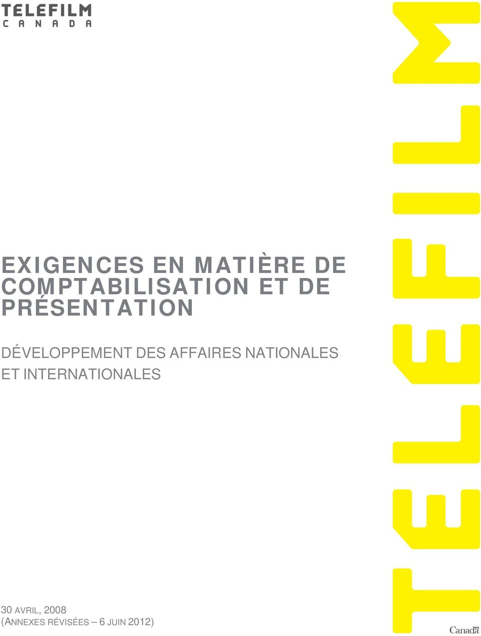 AFFAIRES NATIONALES ET INTERNATIONALES