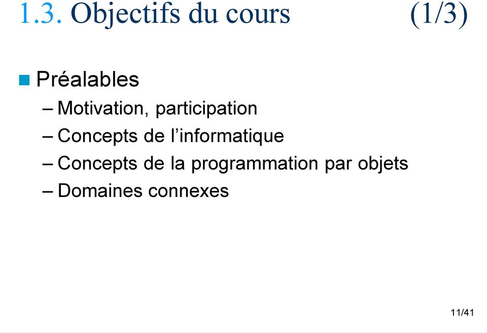 Concepts de l informatique Concepts de