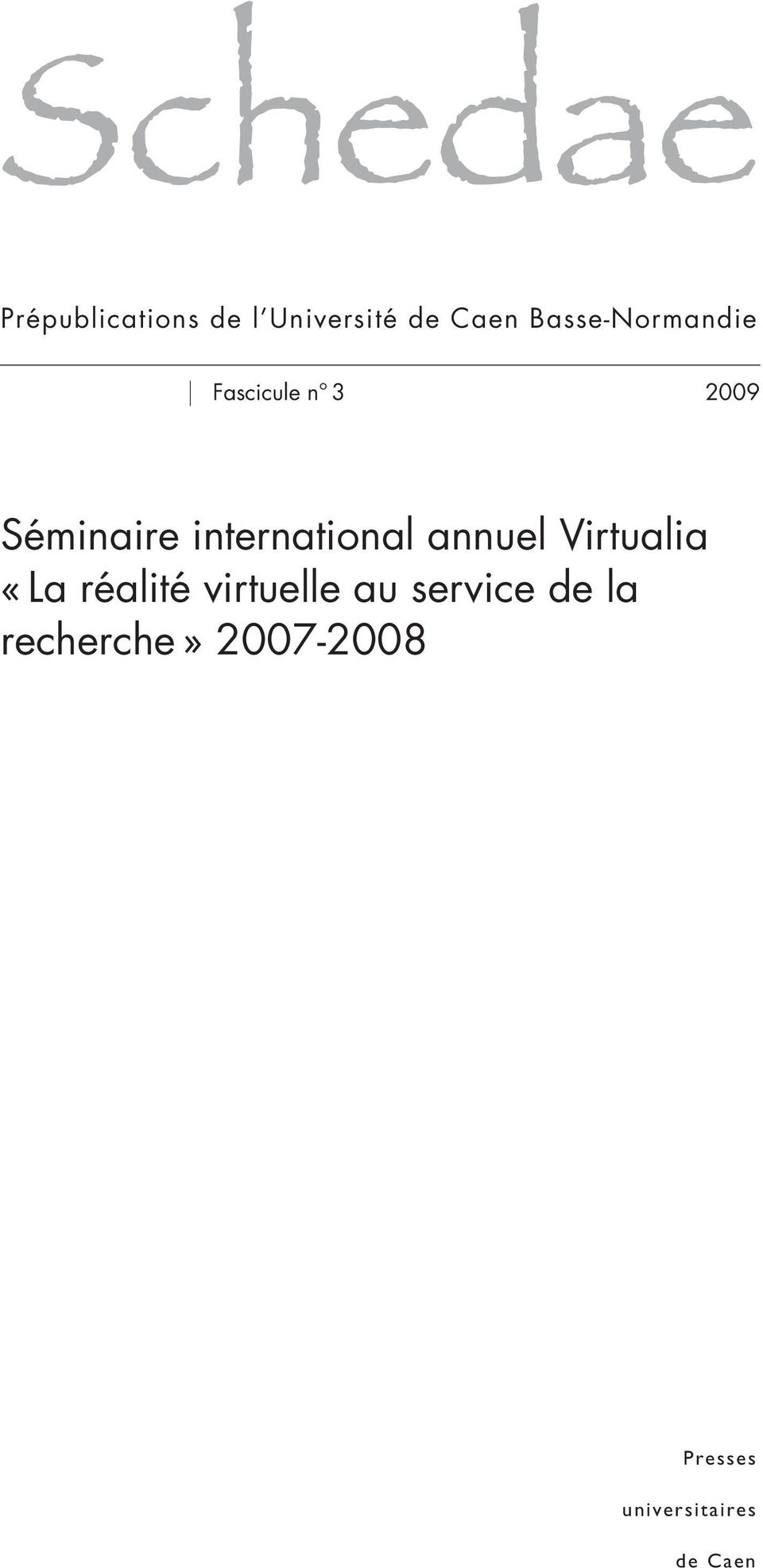 international annuel Virtualia «La réalité virtuelle