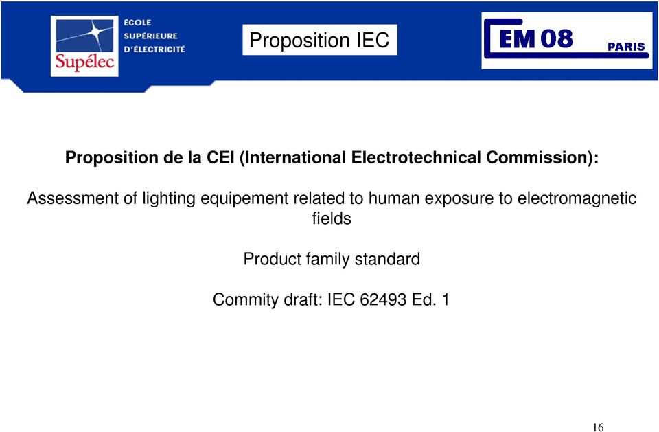 equipement related to human exposure to electromagnetic