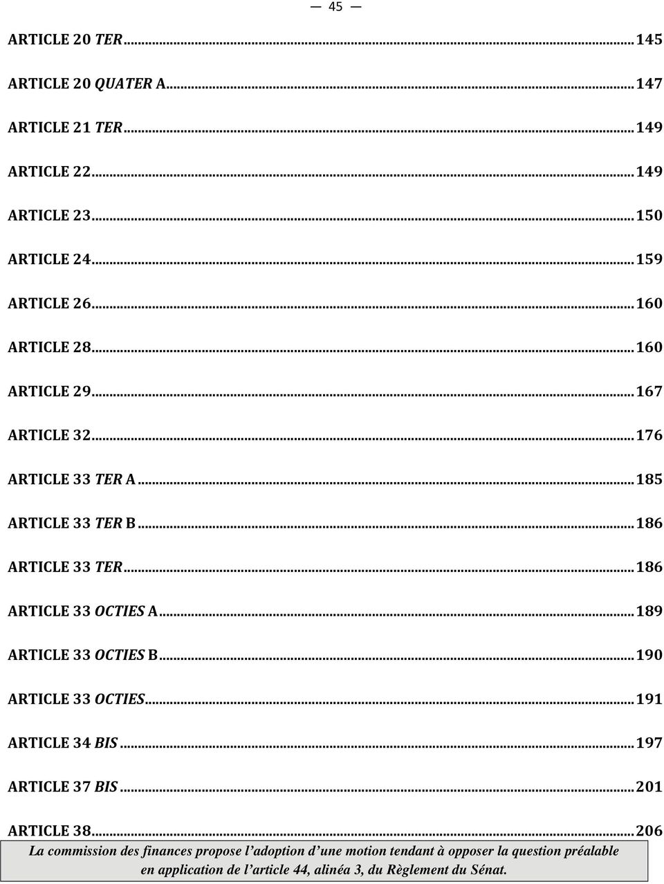 .. 176 ARTICLE 33 TER A... 185 ARTICLE 33 TER B... 186 ARTICLE 33 TER... 186 ARTICLE 33 OCTIES A.