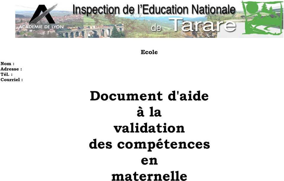 d'aide à la validation