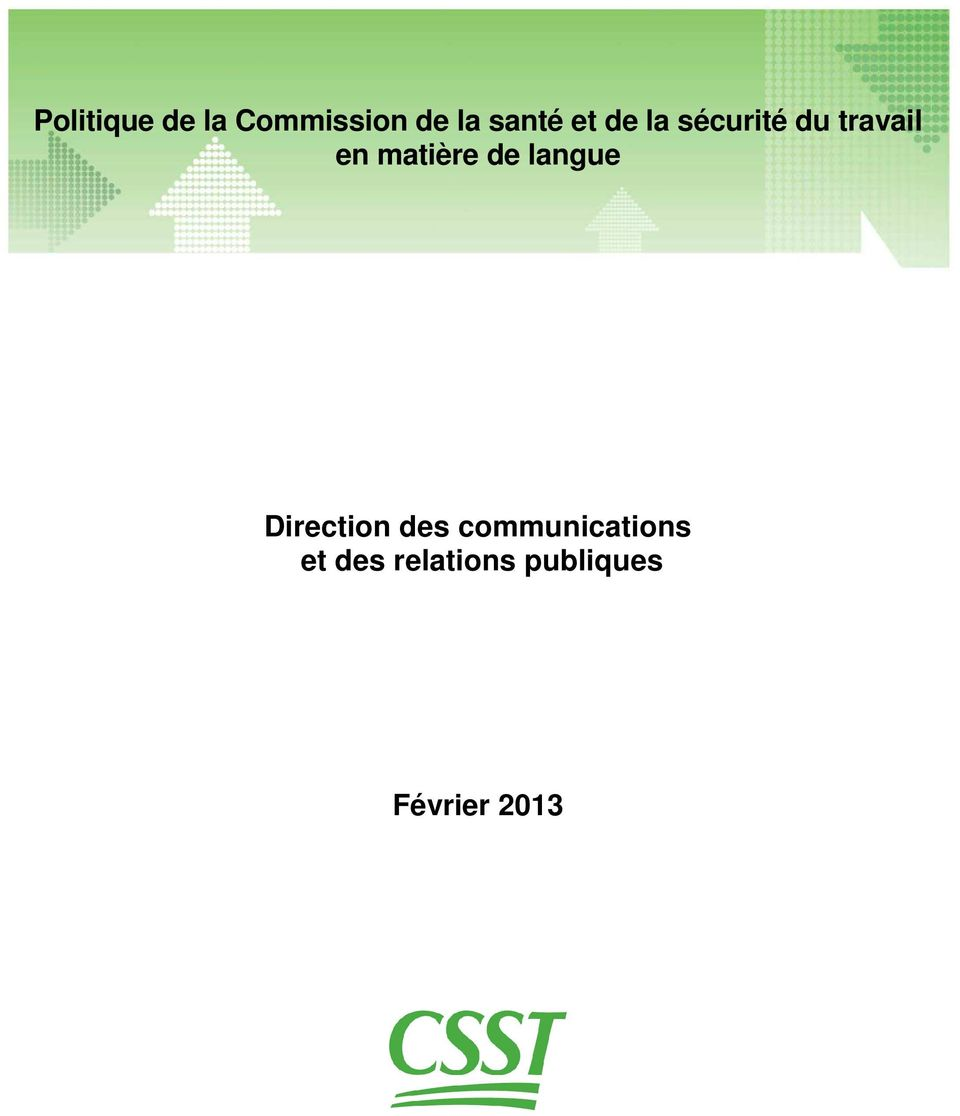 de langue Direction des communications