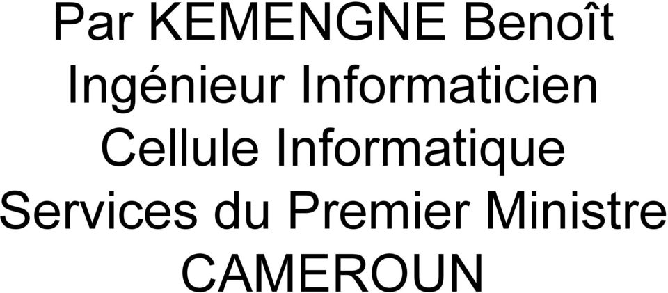 Cellule Informatique