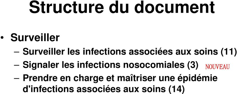 infections nosocomiales (3) NOUVEAU Prendre en charge