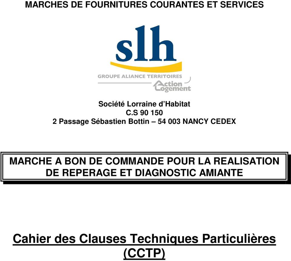 S 90 150 2 Passage Sébastien Bottin 54 003 NANCY CEDEX MARCHE A
