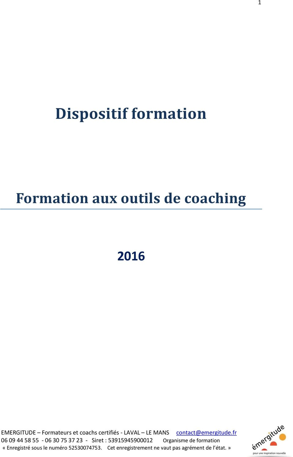 Formation aux